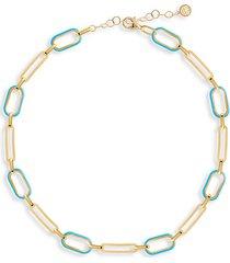 soft serve neon 14k gold vermeil & enamel chain choker necklace