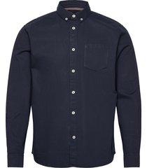 regular bedf skjorta casual blå tom tailor