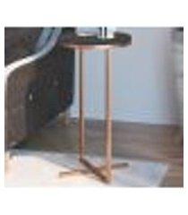 mesa lateral voip alta 24814 linha complementos cobre preto artesano