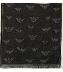 emporio armani scarf emporio armani scarf in wool blend