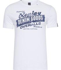 t-shirt masculina top circular - branco