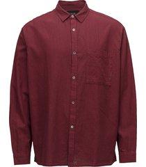 relaxed l/s shirt overhemd business rood neuw