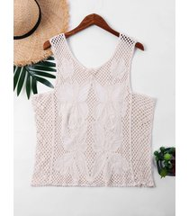 sleeveless knit cover up top