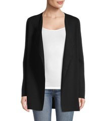 saks fifth avenue women's open-front cotton-blend cardigan - black - size xs