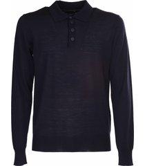 emporio armani wool polo shirt