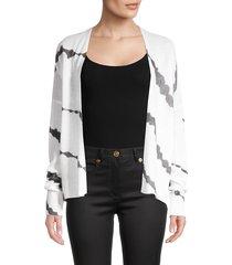 360 cashmere women's alexina cashmere skull cardigan sweater - white charcoal - size xs