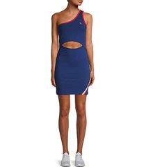 one-shoulder cutout tennis dress