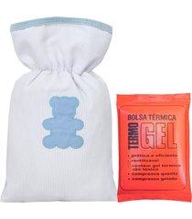 bolsa térmica padroeira baby urso encantado azul