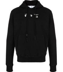 off-white bolt arrow hoodie - black