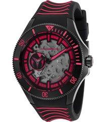 reloj technomarine tm-118025 negro rojo silicona