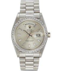 rolex day date diamond platinum watch