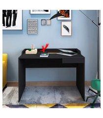 mesa escrivaninha 1 gaveta artany slim ii preta