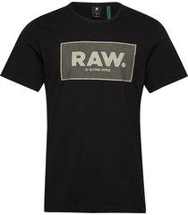 boxed gr r t s\s t-shirts short-sleeved svart g-star raw