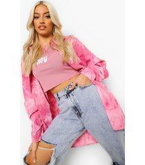 oversized corduroy tie dye blouse, pink