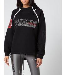 p.e nation women's racing line hoodie - black - m