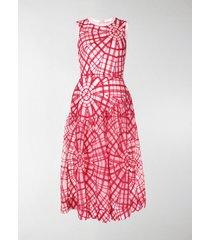 simone rocha geometric embroidered dress