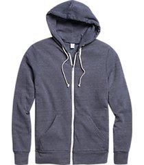 alternative apparel modern fit rocky eco-fleece hoodie navy