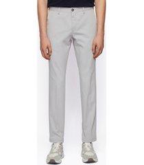 boss men's garment-dyed slim-fit trousers