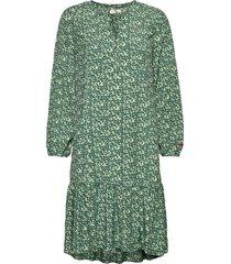 aria dress knälång klänning grön odd molly