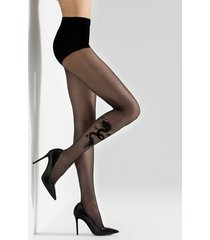 natori dragon sheer tights, women's, size m