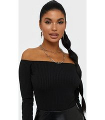 nly one off shoulder rib body toppar