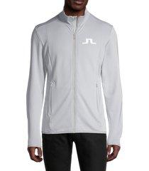 j. lindeberg men's florian player track jacket - black - size s