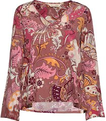 puzzle me together blouse blouse lange mouwen rood odd molly
