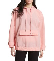 women's juicy couture oversize hoodie, size large - pink