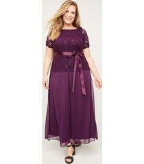 refined sparkle & lace dress