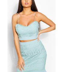 crochet lace occasion top, sky
