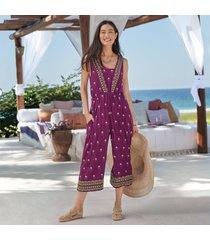amira embroidered jumpsuit - petites