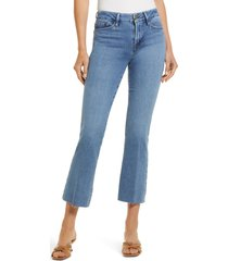 frame le crop mini bootcut jeans, size 33 in tide pool grind at nordstrom