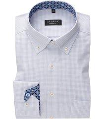 eterna overhemd comfort fit wit geruit