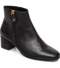imani shoes boots ankle boots ankle boots with heel svart pavement