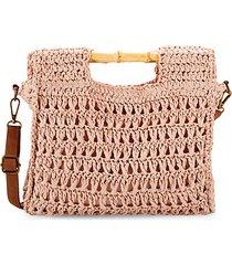 braided straw crossbody bag