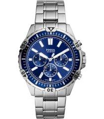 fossil men's chronograph garrett stainless steel bracelet watch 44mm