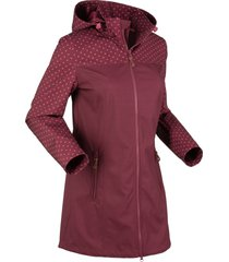 giacca fantasia in softshell (rosso) - bpc bonprix collection