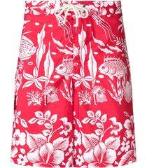 polo ralph lauren printed swim shorts - 001 red