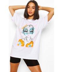 peachy graphic t-shirt, white