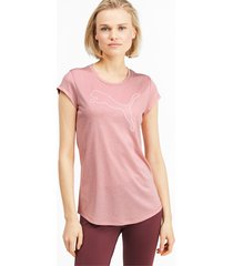 gemêleerd sportief t-shirt voor dames, roze, maat l | puma