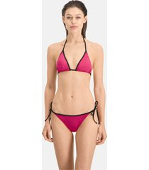 puma swim side-tie bikinibroekje voor dames, roze, maat m