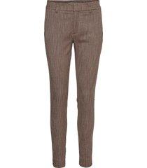abbey brandy pant pantalon met rechte pijpen bruin mos mosh