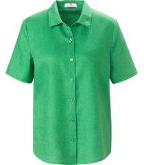 blouse 100% linnen korte mouwen van peter hahn groen