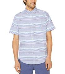 nautica men's classic-fit seersucker stripe shirt