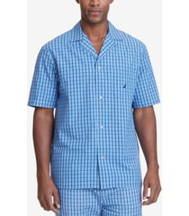 nautica men's plaid cotton pajama shirt