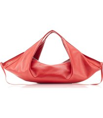 3.1 phillip lim designer handbags, scarlet leather luna mini slouchy hobo bag