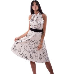 dress with print and plissè rinascimento
