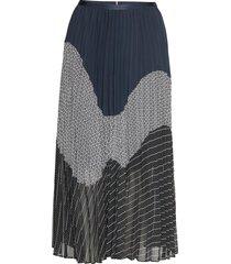 deidre skirt rok knielengte multi/patroon tommy hilfiger