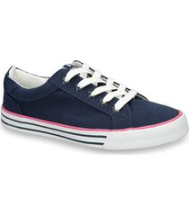 tenis azul north star young r mujer