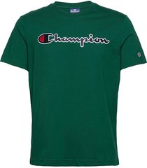 crewneck t-shirt t-shirts short-sleeved grön champion